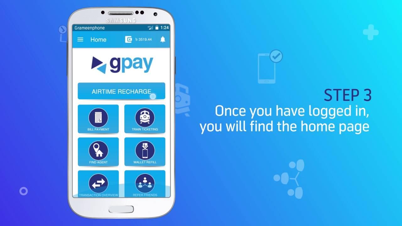 GPAY App Tutorial - Login & Wallet Refill