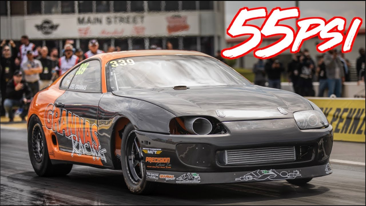 World Record Setting Toyota Supra Tx2k19 Dragtimes Com Drag Racing Fast Cars Muscle Cars Blog