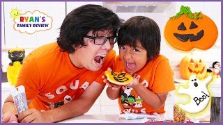 Kids Fun Baking Halloween Cookies Treat with Ryan
