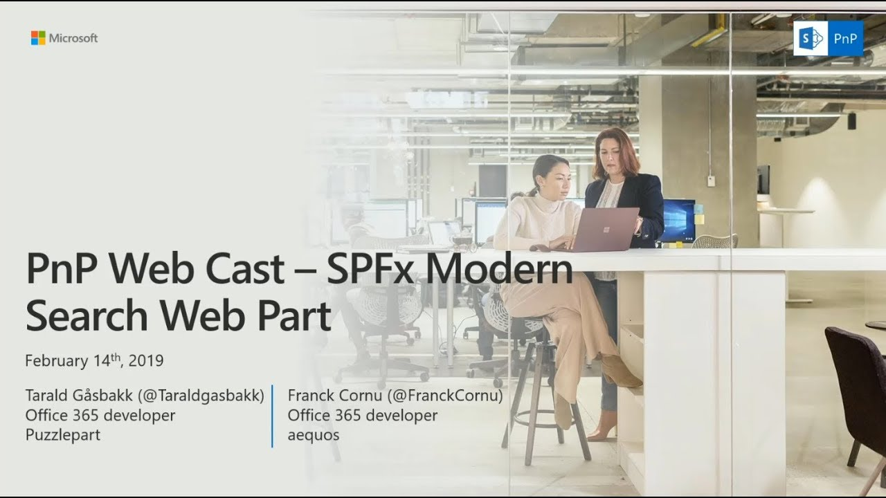 PnP Webcast - SharePoint Framework Modern Search Web Part