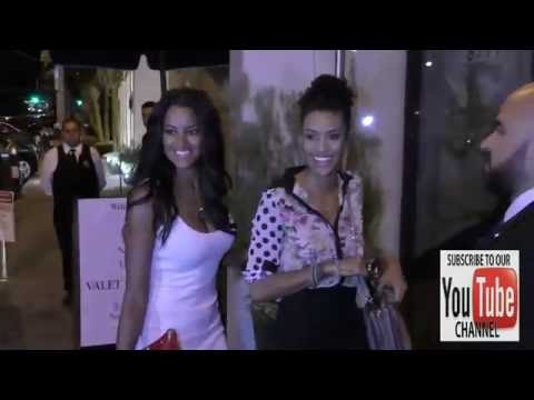 Claudia Jordan and Annie Ilonzeh talks about new Tupac movie outside Catch Nightclub in West Hollywo