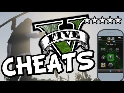 GTA 5 ALL CHEATS FOR PS3 + XBOX 360 (GTA V Cheat ...