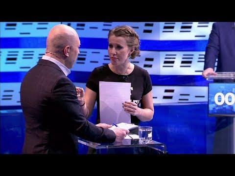 Ксения Собчак закатила истерику на дебатах Первого Канала! (06.03.2018, 08:05)