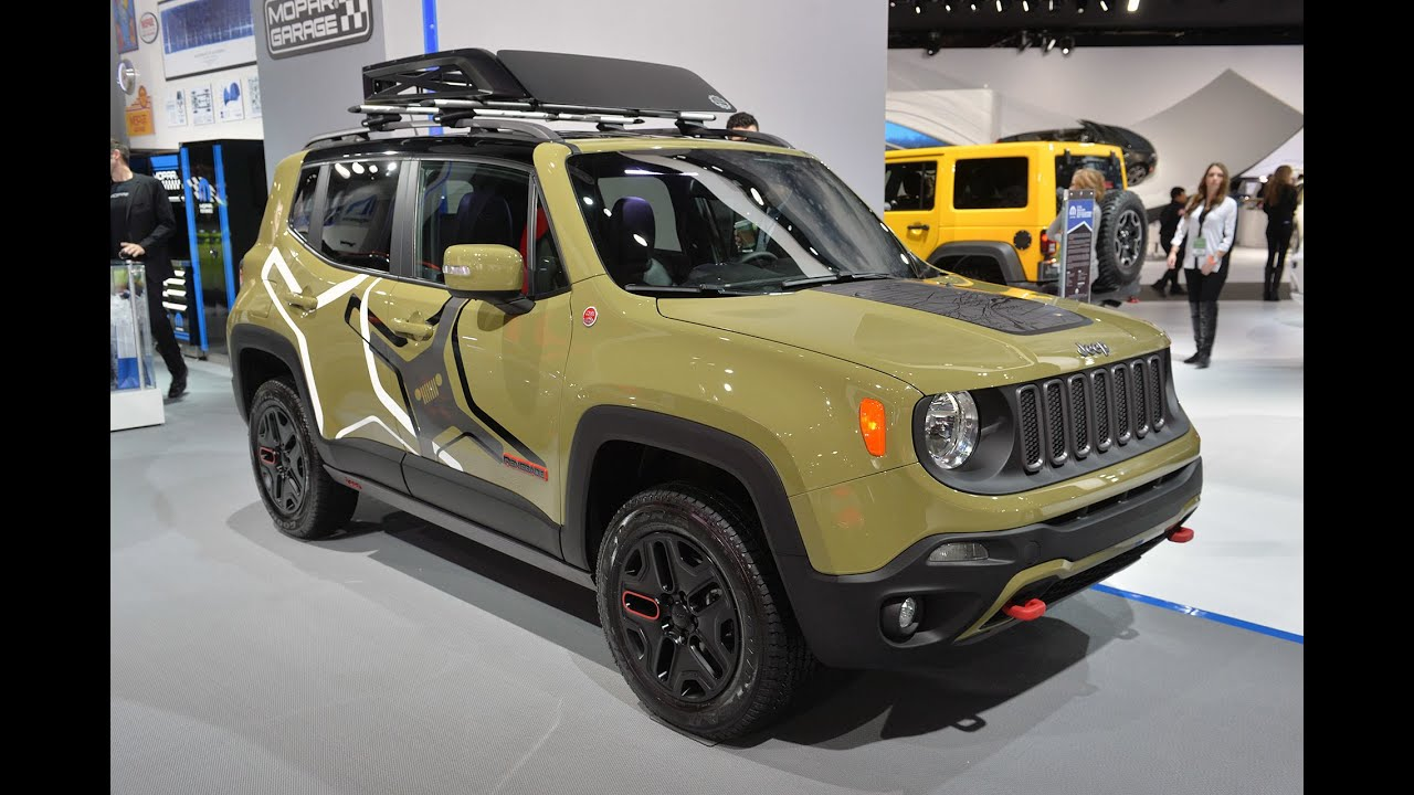 jeep renegade mopar off road concept 2015 detroit auto show youtube. Black Bedroom Furniture Sets. Home Design Ideas