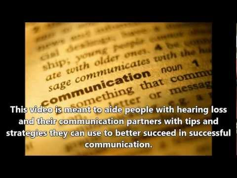 Communication Strategies for People with Hearing Loss