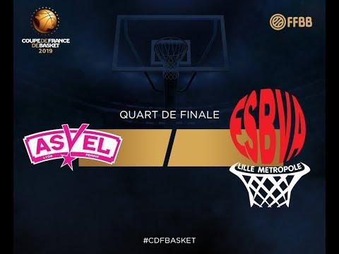 Lyon ASVEL féminin vs Villeneuve d'Ascq - Quarts de finale de la Coupe de France