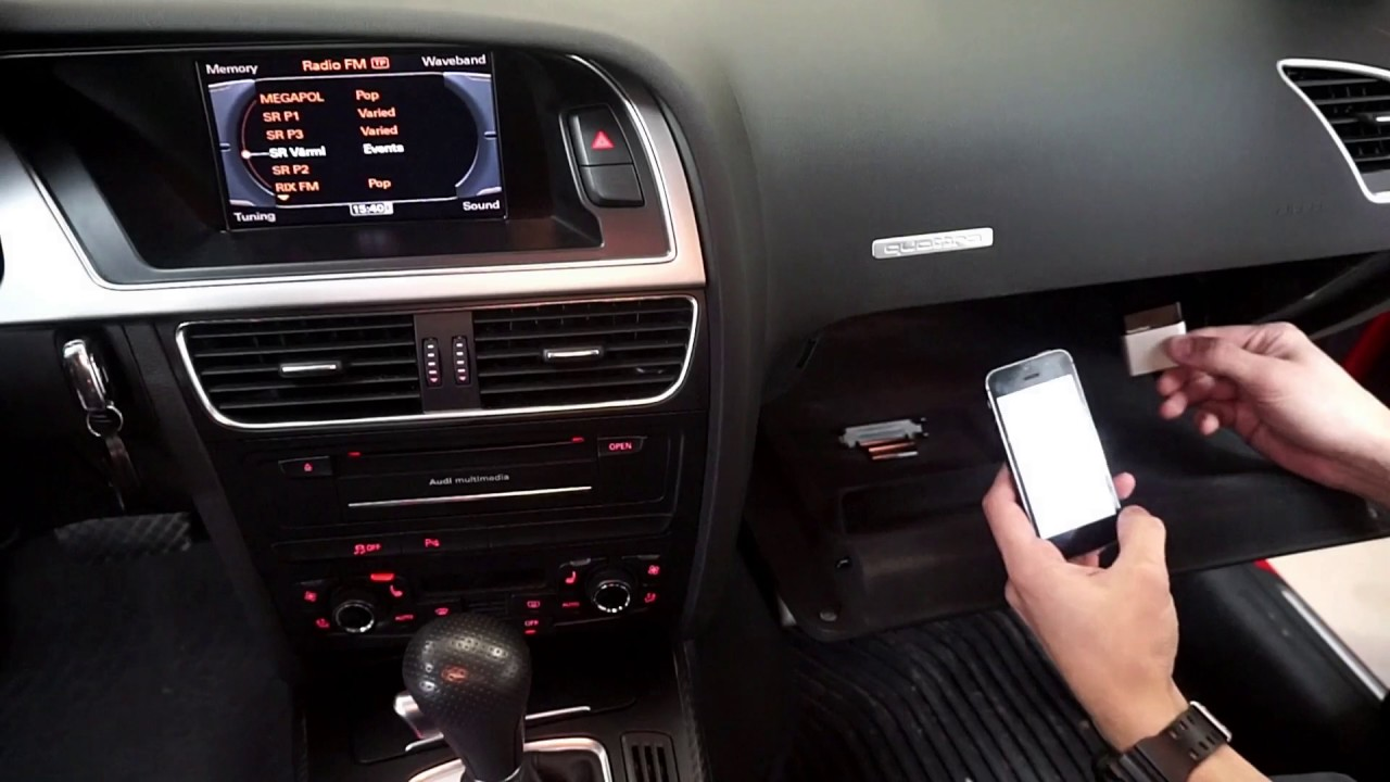 Aktivera bluetooth streaming av musik i Audi MMI 3G & Volkswagen mm