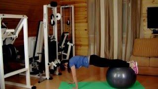 Видеоурок 15 Комбинированные упражнения скакалки+fitball