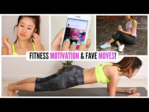 10 Fitness Motivation TIPS & Fave Workout Moves!