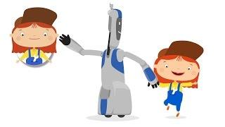 Médico McWheelie - Hijos de un Robot y el Coche Médico. Un Bebé De Dibujos Animados