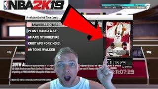 NBA 2K19 PINK DIAMOND SHAQ PACK OPENING!!!
