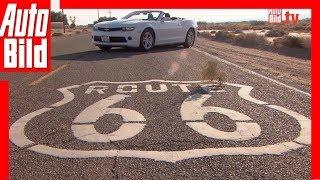 Mit dem Camaro Cabrio auf der Route 66