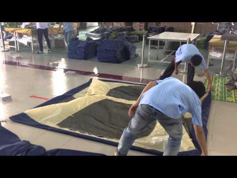 텐트 접기 정석