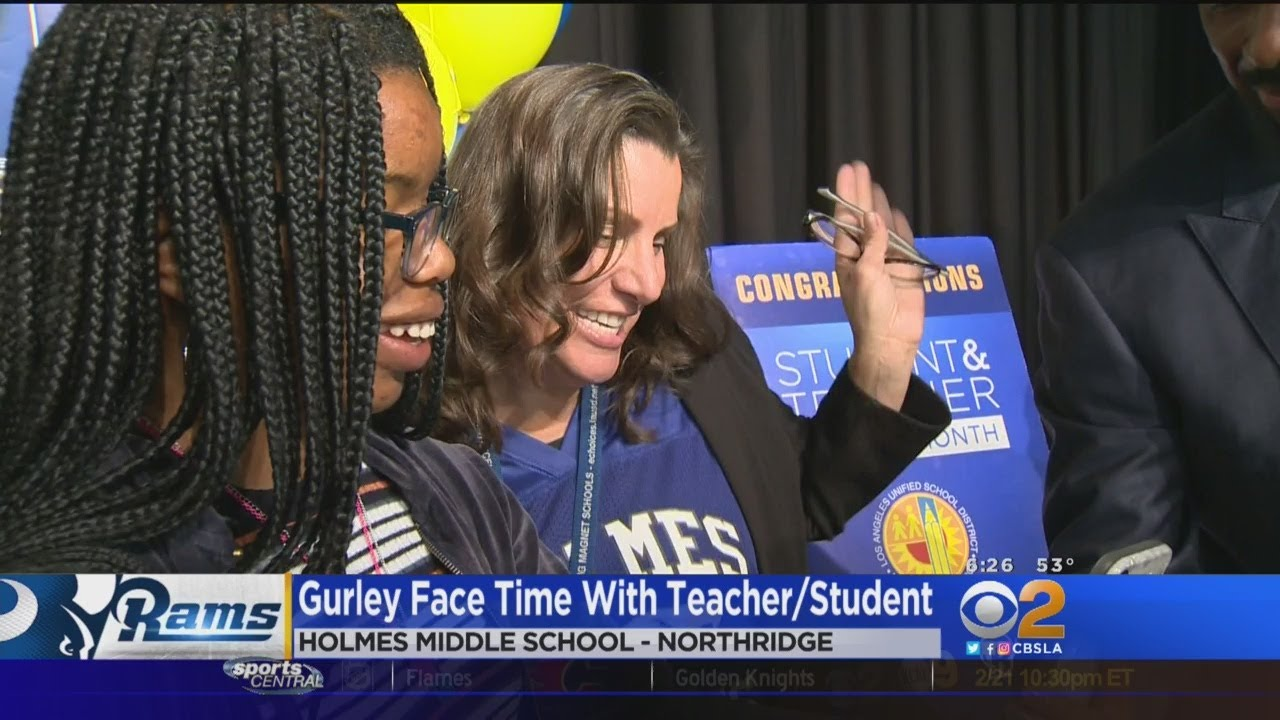 Rams' Todd Gurley Surprises LAUSD Honorees