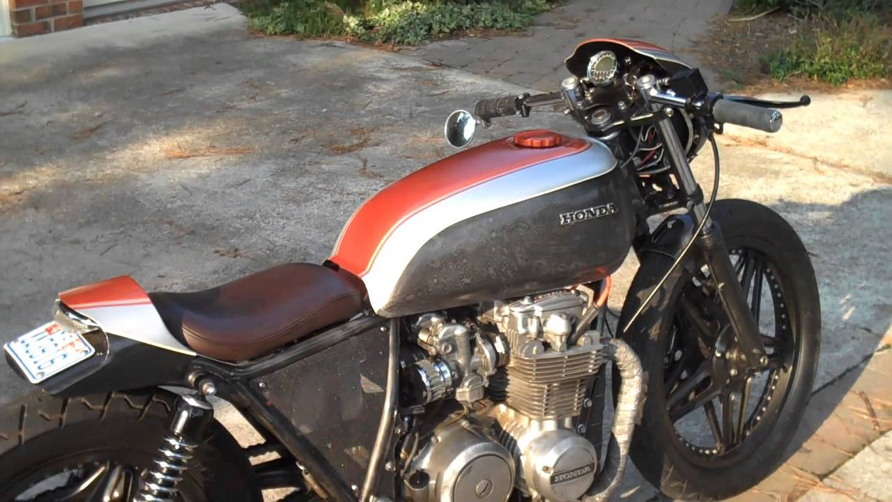 1979 honda cb650 custom cafe racer motorcycle - process video