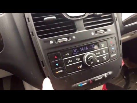 2011 Chrysler Town & Country Climate Control Removal And Installation