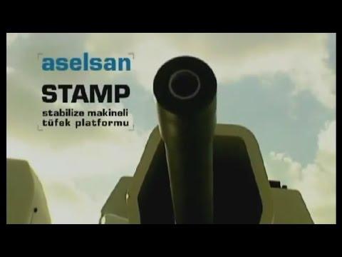 ASELSAN - STAMP Uzaktan Kumandalı Stabilize Makineli Tüfek Platformu