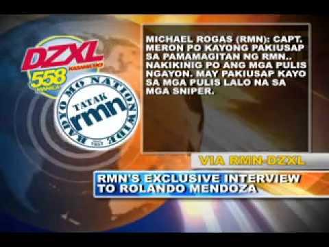 Quirino Grandstand Hostage Crisis - Live Telephone Conversation