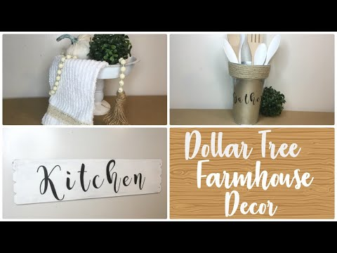 DOLLAR TREE DIY FARMHOUSE KITCHEN DECOR