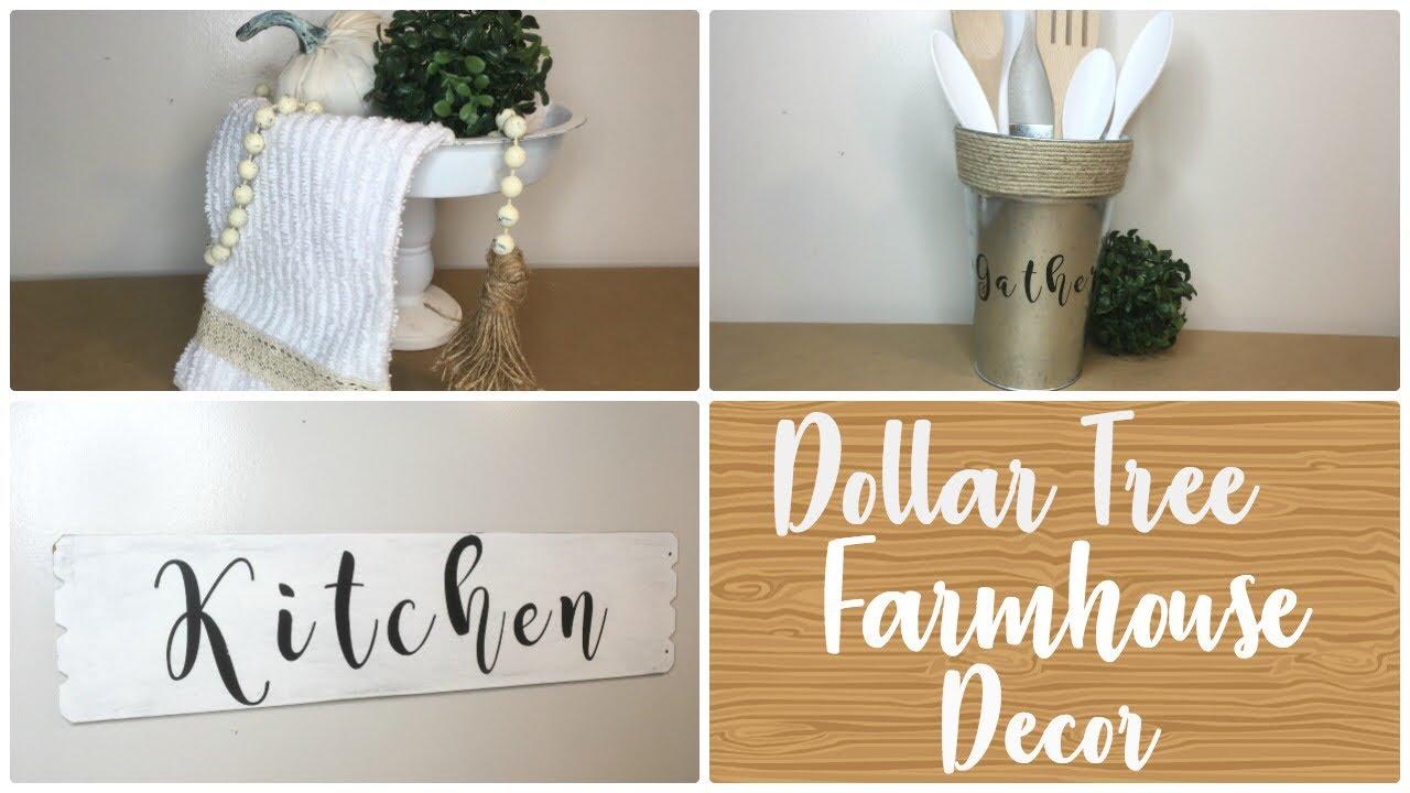 Dollar Tree Diy Farmhouse Kitchen Decor Youtube