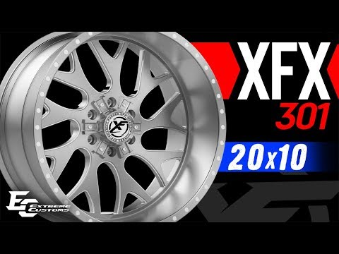 20x10 XF Offroad XFX-301 wheels | 275/55R20 Toyo Open Country ATII
