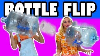 Bottle Flip Challenge Who Can Flip Water Bottles Better? Totally TV.