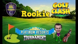 Golf Clash tips, Playthrough, Hole 1-9 - ROOKIE - TOURNAMENT WIND! Platinum Resorts Tournament!