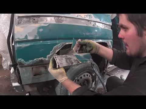 Замена Задней арки WV T4 Ремвставки сдвижной двери WV T4