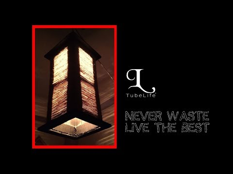 DIY ceiling lampshade Made with Jute Yarn | Easy Handmade DIY | Life hacks idea | TubeLife