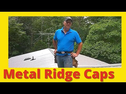 Metal Roof Ridge Caps