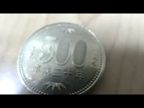 The 500 yen coins in Japan it was close-up shots. Crafted amazing. . .