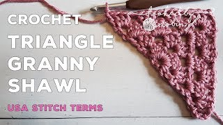 How to Crochet a Granny Shawl Triangle Motif | Super Easy Beginners Tutorial