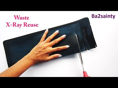 DIY - Waste X-Ray Reuse Idea || Best Out Of Waste || Home Decor With Waste X-ray Sheet