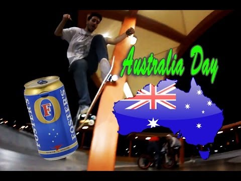 Australia Day in VEGAS - Skating and Drinking!