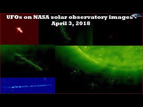 nouvel ordre mondial | UFOs on NASA solar observatory images - April 3, 2018