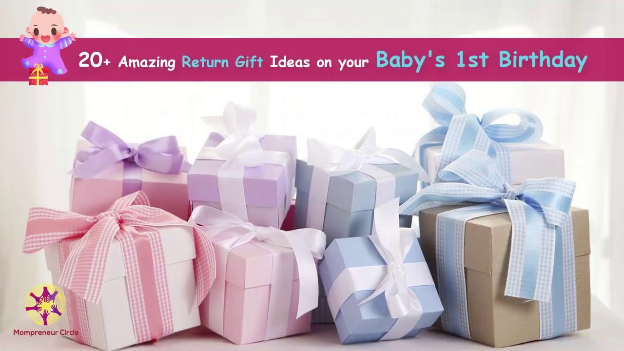 Birthday Return Gift Ideas On Your Babys First Birthday