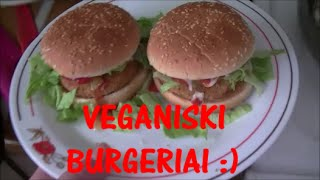 Veganiski-vegetariski burgeriai :)
