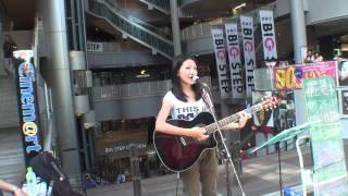 2011.07.23 BIG STEP前ストリートライブ 井上 苑子 『ありのまま』