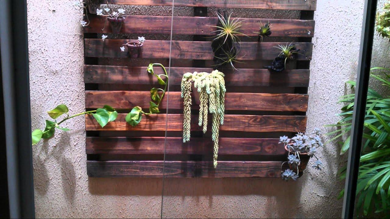 PALETE RECICLADO/JARDIM VERTICAL (recycled pallet/ vertical garden  #3C6837 1920x1080