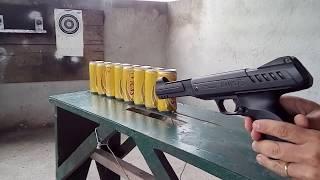 Pistola gamo p 900 vs latinhas