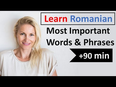 Romanian Most Common Vocabulary | 600 Words | Easy Conversation