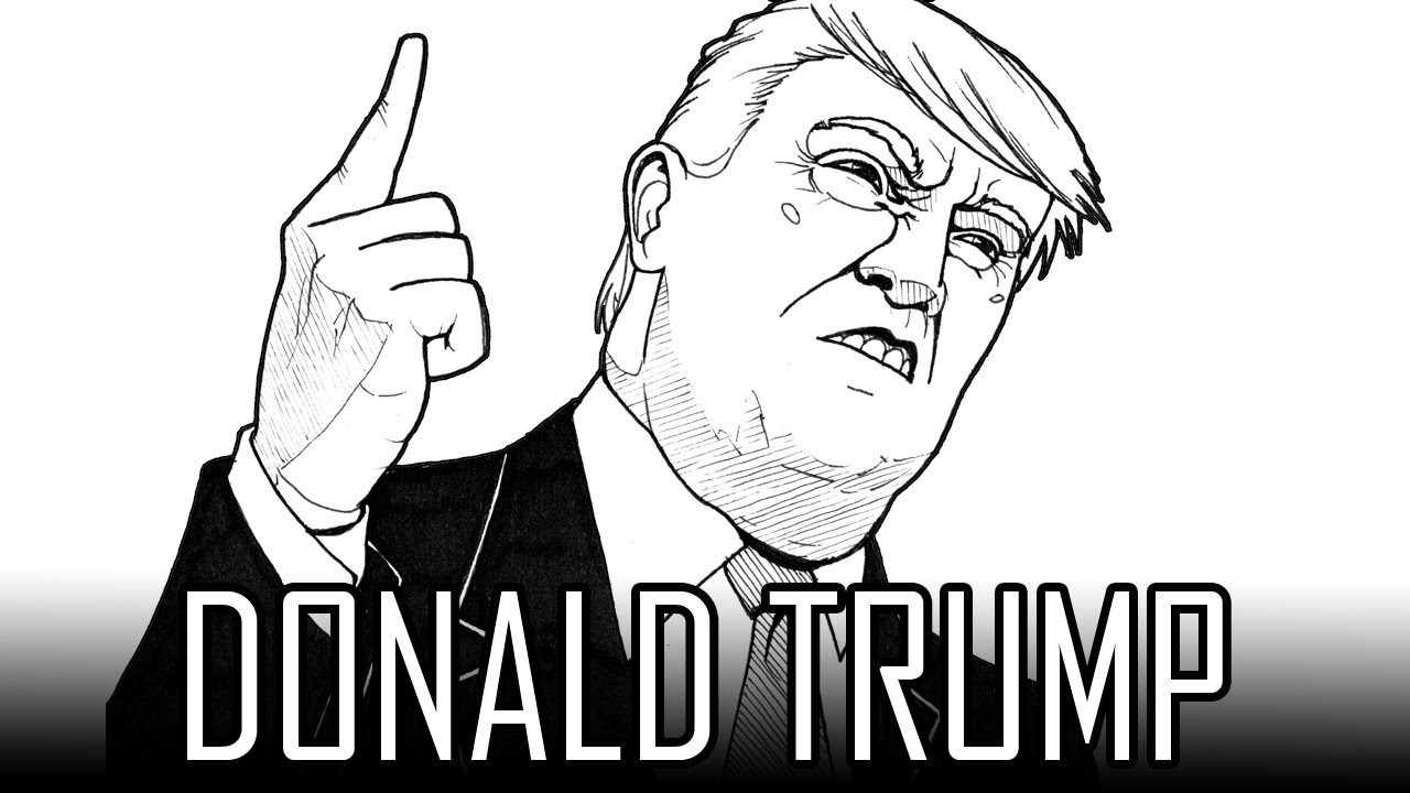 Draw Donald Trump - How To Draw With Quick Simple & Easy Steps For ...