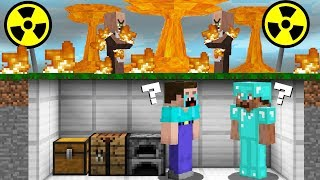 HOW to SURVIVE a NOOB and PRO FROM an ATOMIC EXPLOSION? in Minecraft Noob vs Pro