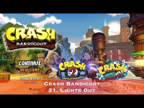 Crash Bandicoot - 21. Lights Out - Сбор всех кристаллов