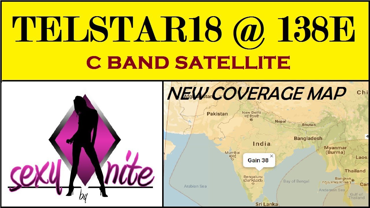 All India Coverage Satellite Map In 2 Feet Dish | With