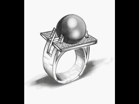 Designing and sketching Jewelry-Diamond Ring Galaxy Note pro