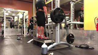 Elevated RDL on Smith machine: Thompson Nutrition Training
