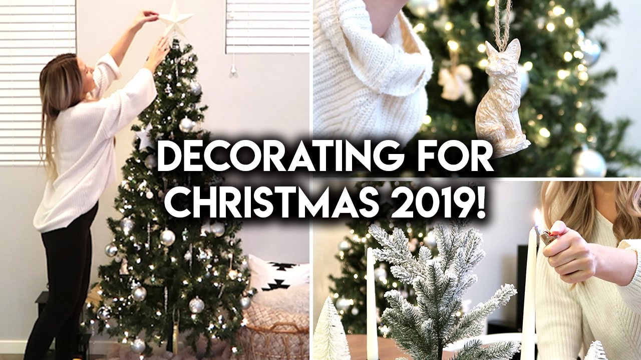 CHRISTMAS DECORATE WITH ME | CHRISTMAS DECOR IDEAS 2019 - YouTube