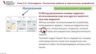 Тема 2.3. Газгидраты. Технологии добычи и перспективы разработки