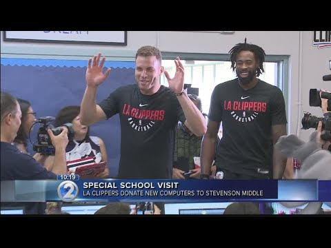 Los Angeles Clippers donate equipment, funding for middle-school computer lab